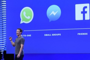 Mark Zuckerberg  founder and chief executive officer of Facebook Inc   speaks during the Facebook F8 Developers Conference in San Francisco  California  U S   on Tuesday  April 12  2016  Zuckerberg outlined a 10-year plan to alter the way people interact with each other and the brands that keep advertising dollars rolling at the world s largest social network  Photographer  Michael Short Bloomberg via Getty Images